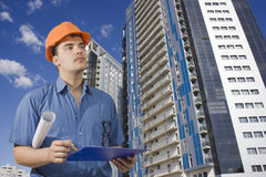 Architect at home Royalty Free Stock Photo