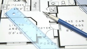 Architect house blueprint hd 1080 stock video video of planning architect house blueprint hd 1080 stock video malvernweather Choice Image