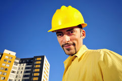 Architect In Front Of A Building Stock Photos
