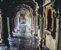 Architect. Inside view of the shiva temple Royalty Free Stock Photos