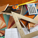 Architect interior designer carpenter Royalty Free Stock Photos