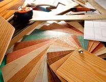 Architect interior designer workplace Stock Images