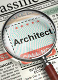 Architect Job Vacancy. 3D. Royalty Free Stock Images