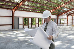 Architect on Jobsite Stock Photo