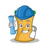 Architect kebab wrap character cartoon. Vector illustration stock illustration