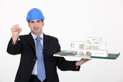 Architect with keys Stock Images