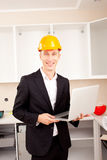 Architect with laptop Royalty Free Stock Photo