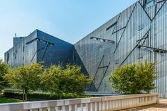Jewish Museum Jüdisches Museum in Berlin, Germany, Europe. Architect Libeskind - Jewish Museum Jüdisches Museum in Berlin, Germany, Europe royalty free stock photography