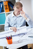 Architect after long day Royalty Free Stock Photos