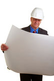 Architect looking at architectural Stock Images