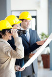 Architect looking construction site Royalty Free Stock Photography