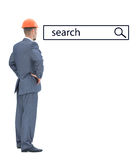 Architect looking at search line Stock Images