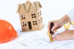 Architect makes changes to the documentation Stock Images