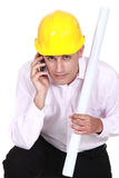 Architect making important call Royalty Free Stock Photography