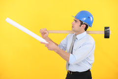 Architect with  a mallet Stock Images