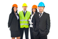 Architect man and his teamwork Royalty Free Stock Images