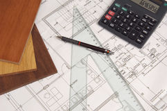 Architect materials Royalty Free Stock Image