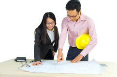 Architect meeting Stock Photo