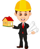 Architect men keeps house Stock Photo