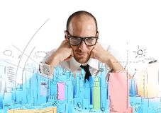 Architect and new project royalty free stock image
