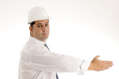 Architect offering for handshake Stock Image
