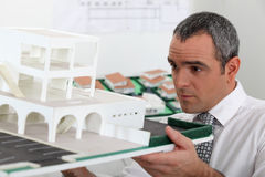 Architect in office Stock Photography