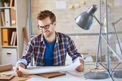 Architect in office Royalty Free Stock Image