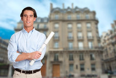 Architect in Paris Stock Image