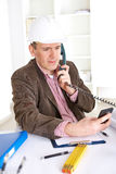 Architect on the phone Stock Photography
