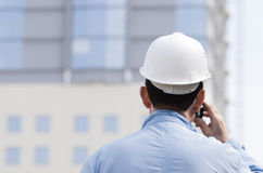 Architect on the phone Stock Images