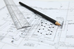 Architect Plan Royalty Free Stock Photo
