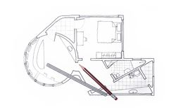 Architect plan for a condo interior design. Architect plan for condo design free hand sketch vector illustration