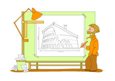 Architect plan - illustration Stock Image