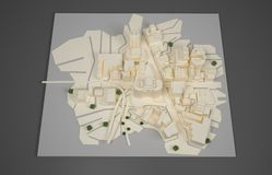 Architect plan model Stock Photography