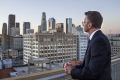 Architect Planning for Los Angeles City Royalty Free Stock Photos