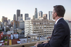 Architect Planning for Los Angeles City Stock Image