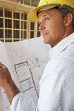 Architect With Plans Stock Photography