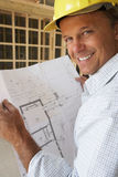 Architect With Plans Royalty Free Stock Photography