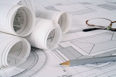 Architect plans series Stock Images