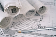 Architect plans series Stock Photography