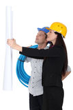 Architect and plumber Royalty Free Stock Photos