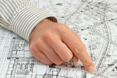 Architect pointing the solution Stock Photos