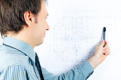 Architect presenting a project Stock Image