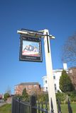 The architect pub. Sign in Chester, UK Royalty Free Stock Image