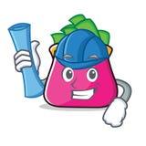 Architect purse character cartoon style. Vector illustration Stock Photos