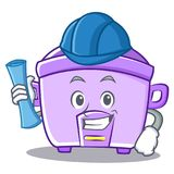 Architect rice cooker character cartoon Stock Images