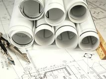 Architect's Drawing Royalty Free Stock Image