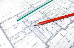 Architect's plan Stock Photography