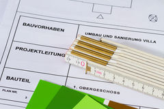 Architect's plan Royalty Free Stock Photo