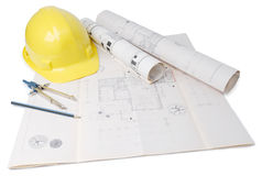 Architect's plan Stock Image